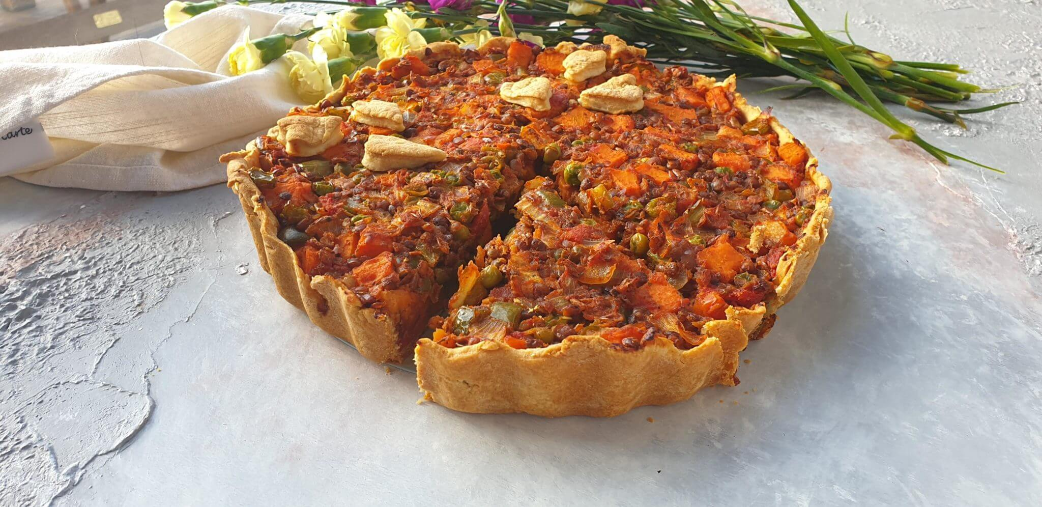 Healthy Sweet Potato, Lentil Pie
