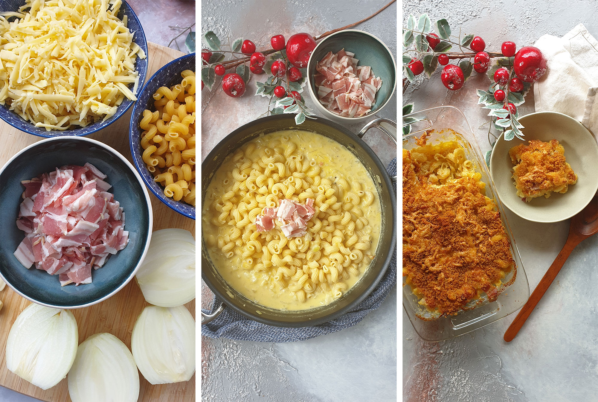 mac and cheese preperation