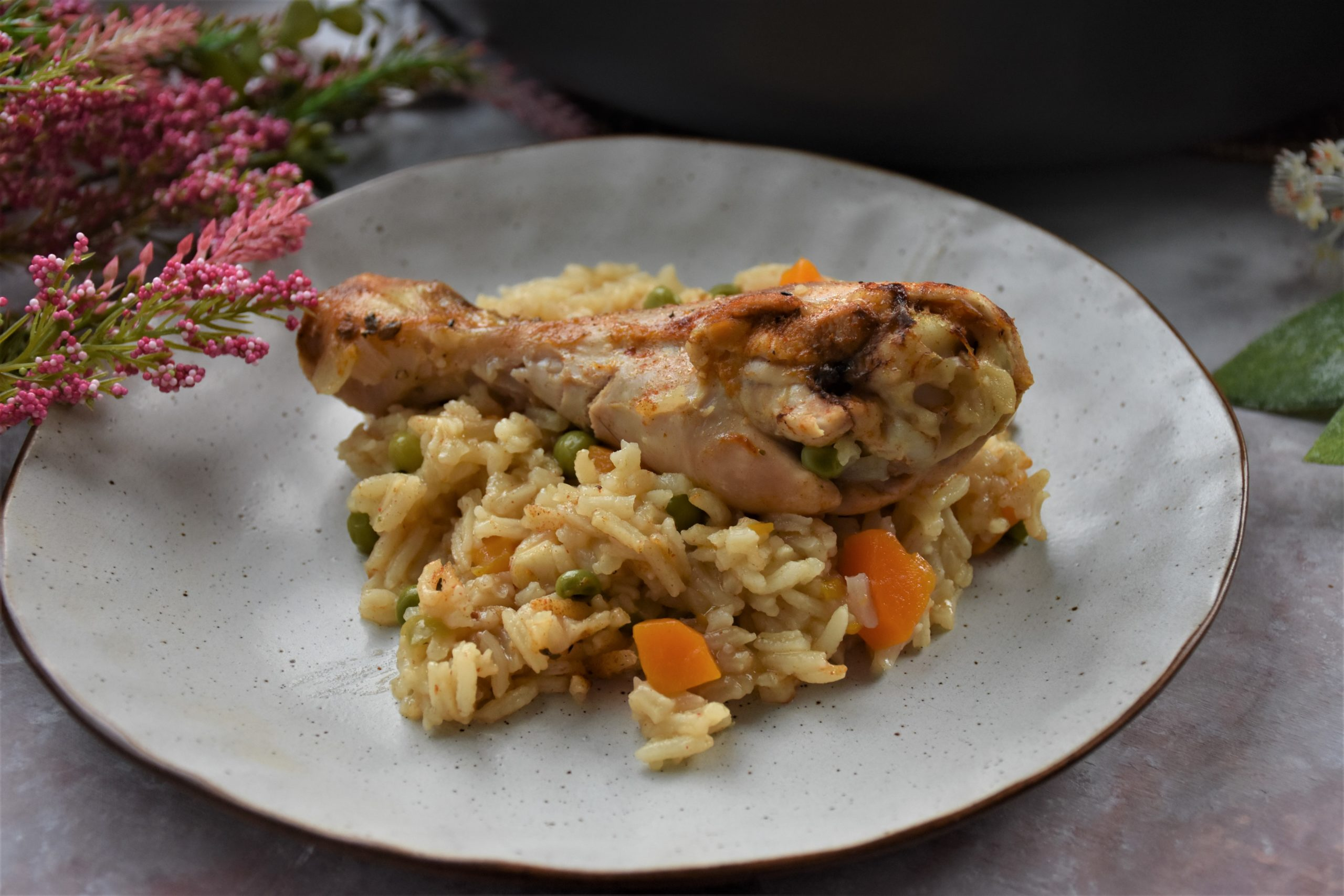 Serbian Rice Pilaf on a plate