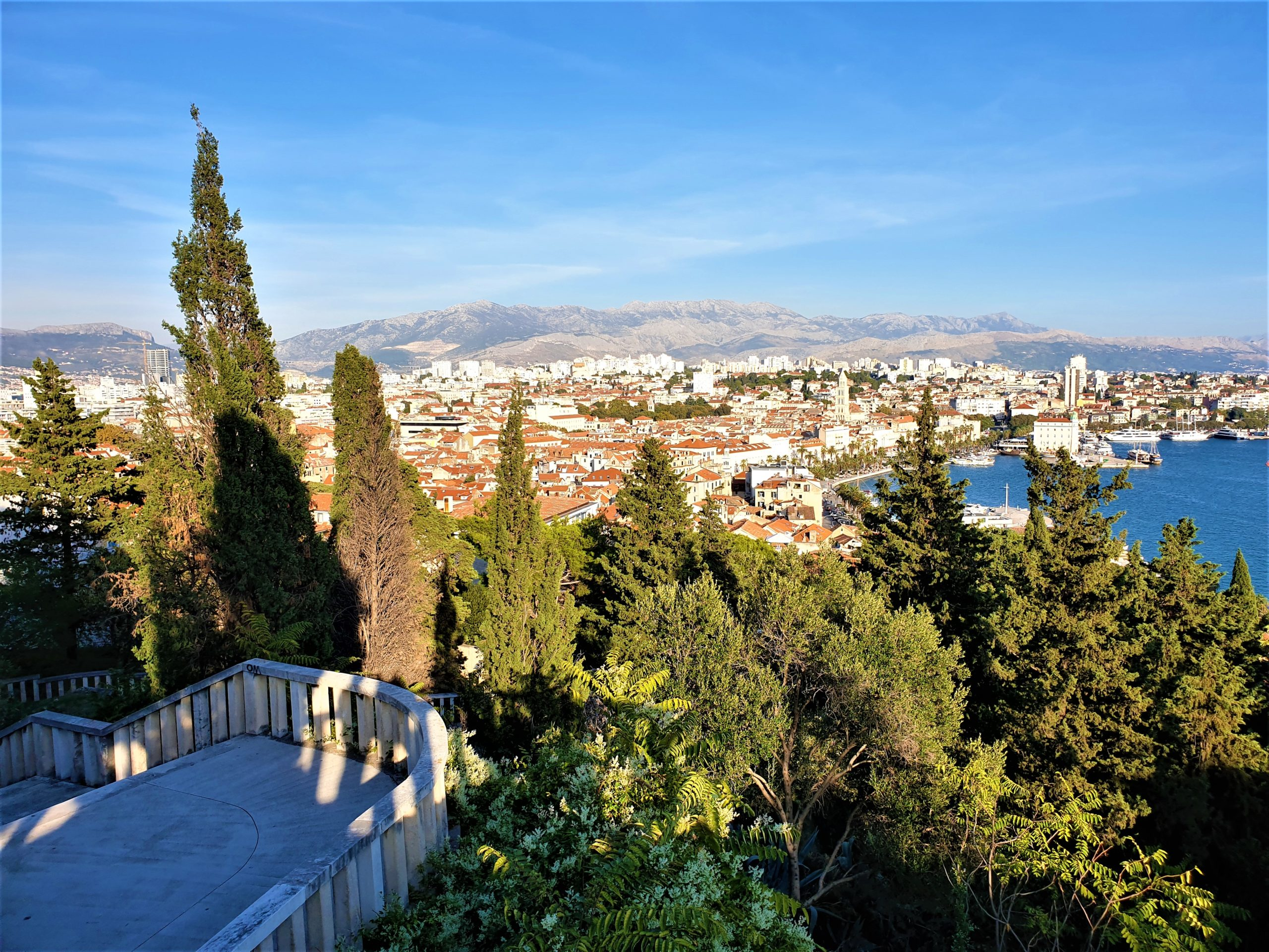 things to do in split - the view from Marjan Park