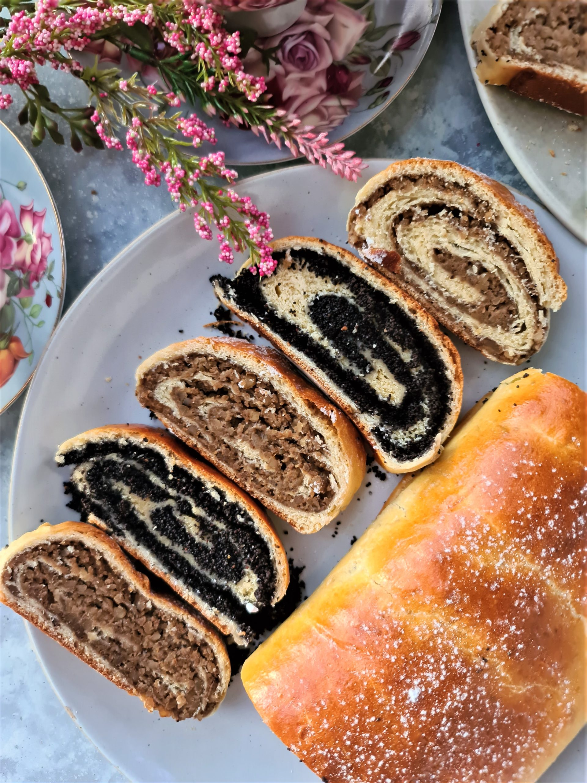 Homemade Strudels with Walnuts and Poppy Seeds
