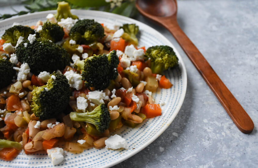 Roasted Cannellini Beans with Vegetables