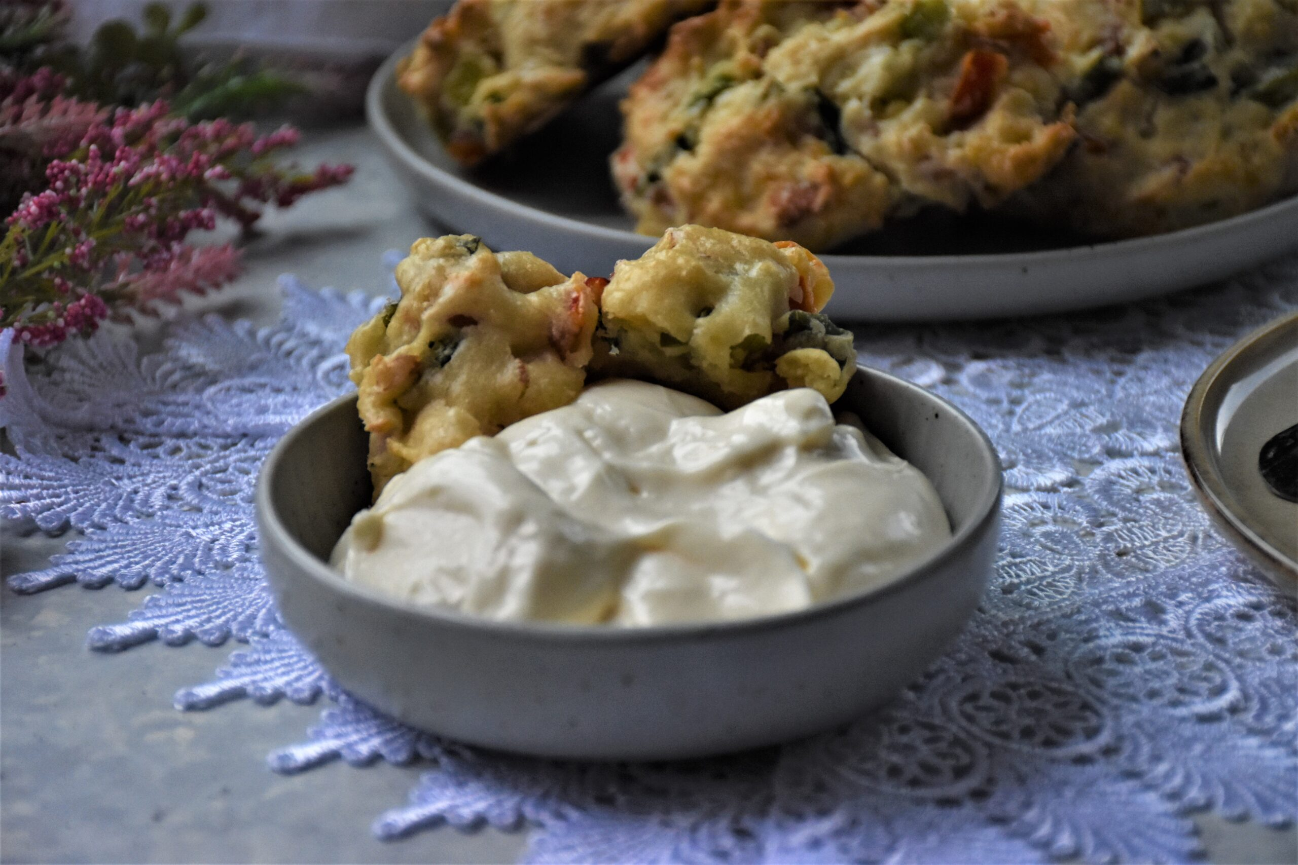 scones with mayo